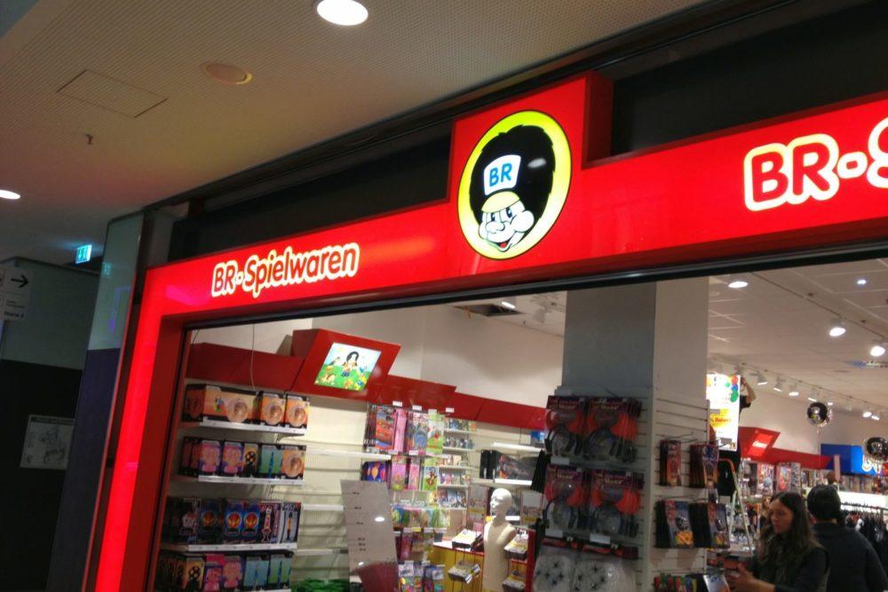 Sonderleuchtkasten Eingangsportal beleuchtet BR Spielwaren